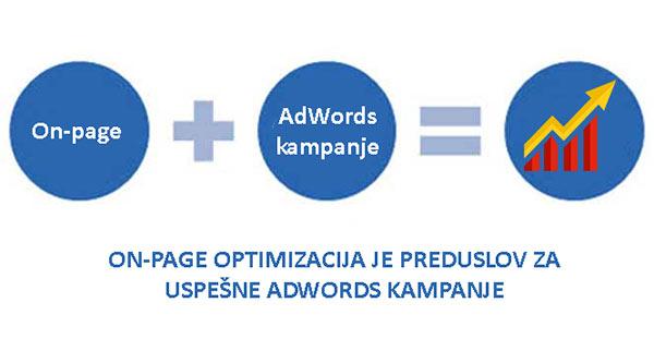 Onpage i adwords