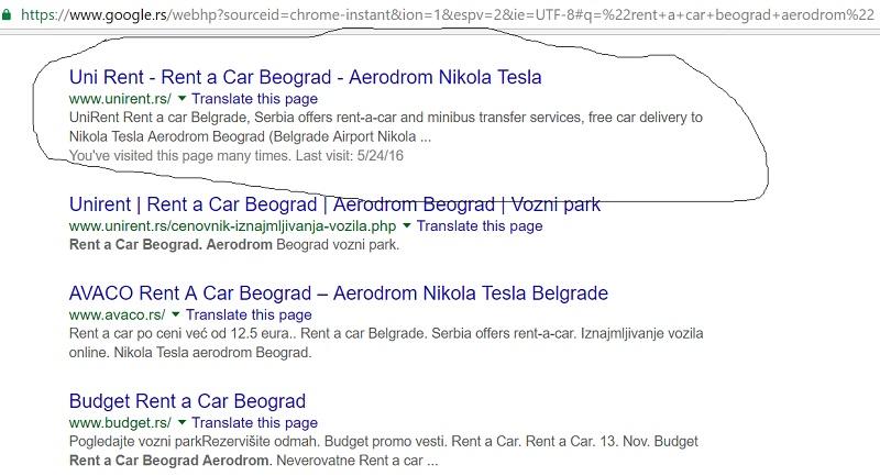 Google pretraga sa navodnicima