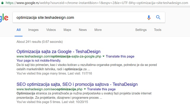 Kako Google vidi vas sajt