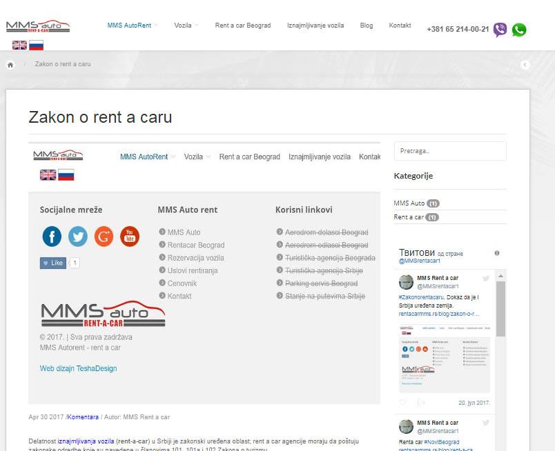 Tekstovi o rent a car uslugama